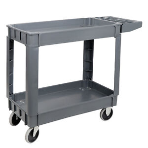 Heavy-Duty-40-034-Utility-Service-Cart-550-LBS-Capacity-2-Layers-Rolling-Tool-Cart