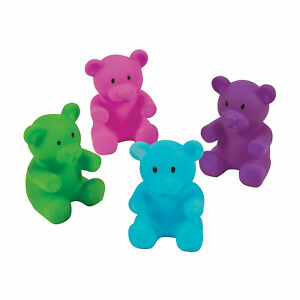 Valentine Gummy Teddy Bear Characters - Party Favors - Novelty Toys - 12 Pieces