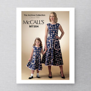 McCall-039-s-M7354-1950s-Vintage-Retro-Re-issued-Apron-Dress-Pattern-Womens-S-M-L-XL