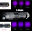 Portable-UV-Torch-Ultra-LED-Zoom-Flashlight-Violet-Purple-Blacklight-Lamp thumbnail 1