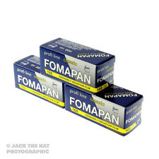 3 rolls of Fomapan 100. Black and White 120 Medium Format Camera Film. ISO 100