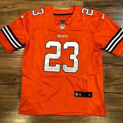 los angeles 2c185 3b09b Nike NFL On Field Cleveland Browns Orange Joe Haden Jersey ...