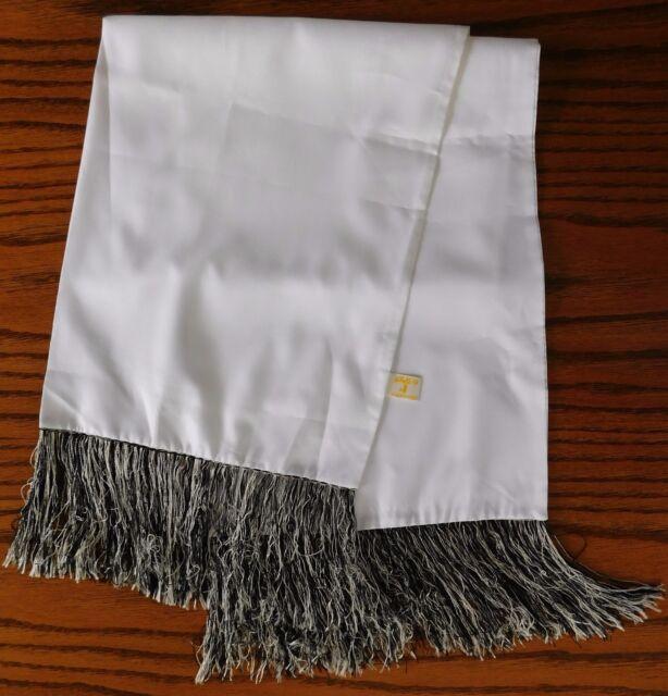 Akco evening opera scarf black white fringe vintage 1960s Excellent condition