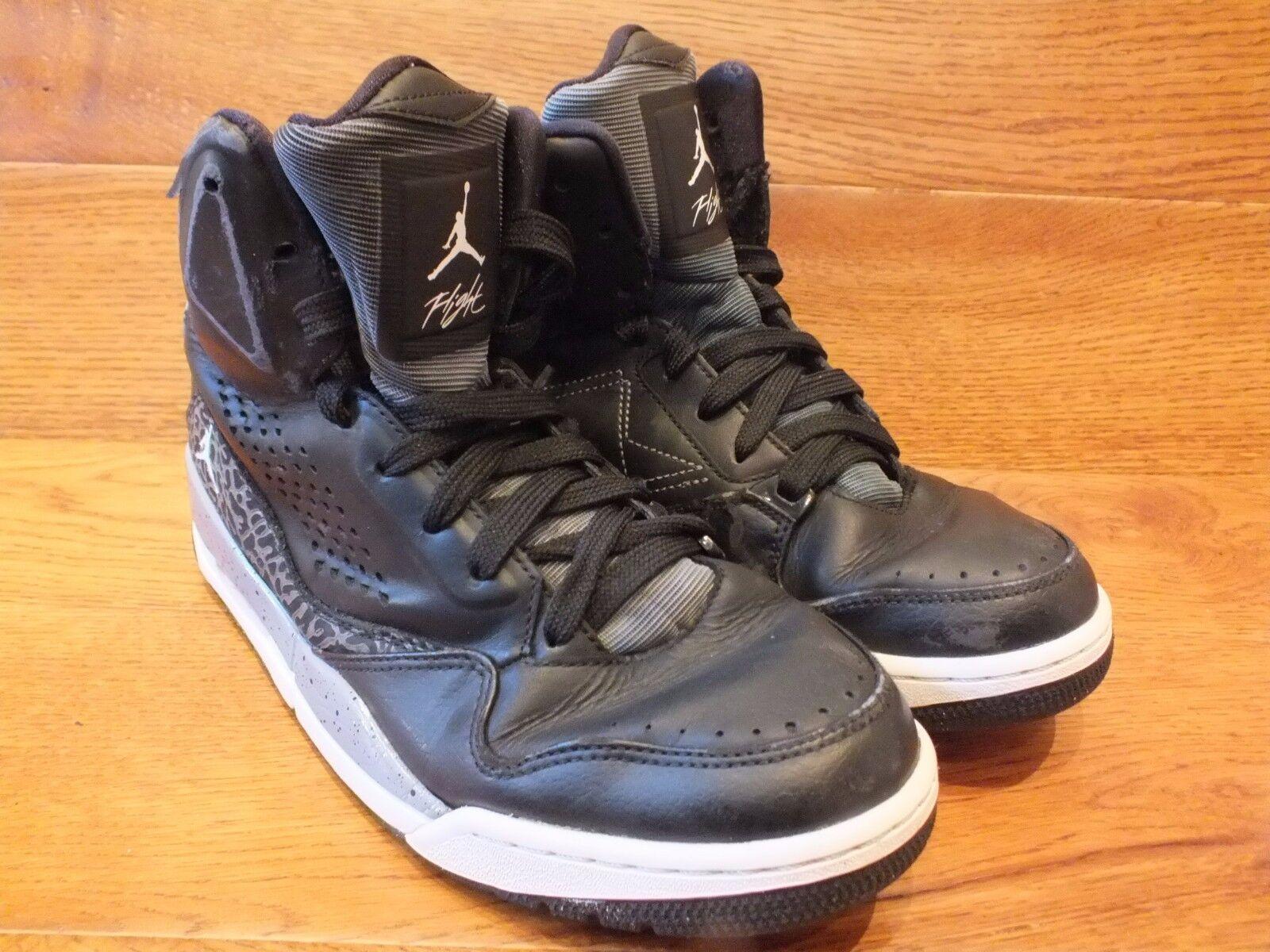 Nike Air Jordan SC 3 Flight Noir Mi Haut Baskets UK 6 EU 40