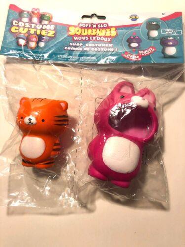 Squishies Orb Soft /'n SLO Bunny /& Tiger Costume cutiez Series 1 BRAND NEW