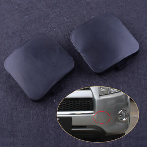 2pcs Front Left Right Bumper Tow Hook Eye Cover Cap for Toyota RAV4 2009-2012