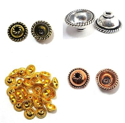 28 PIECES 10MM BALI BEAD CAP 18K GOLD PLATED 280 LUH-H414