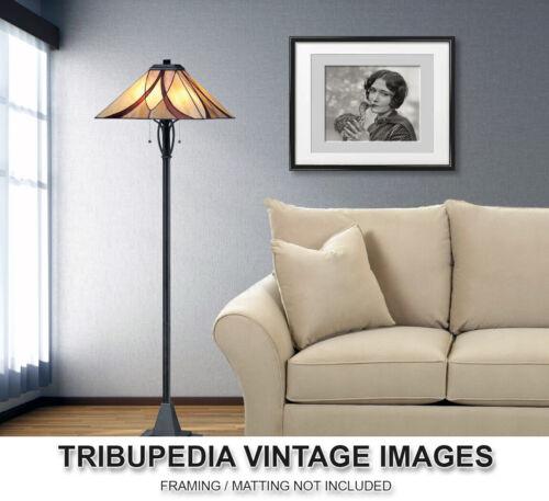 Vintage 1920s Photo Actress Dorothy Sebastian Kissing Baby Ostrich Ziegfeld Girl