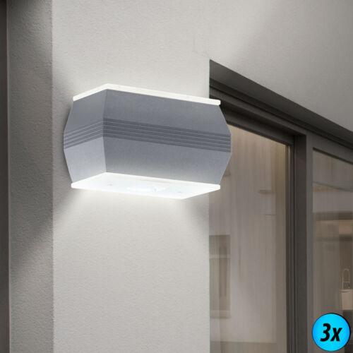 LED Wandleuchte UP/&DOWN Strahler IP44 Außenlampe Beleuchtung Balkon Glas EEK A