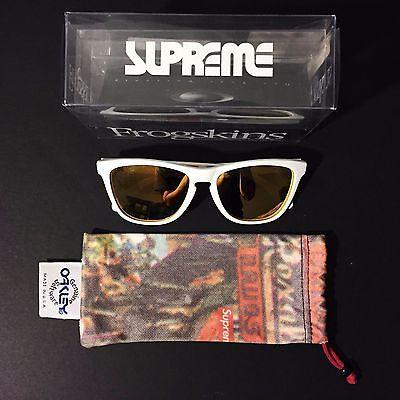 SUPREME x OAKLEY Frogskins Sunglasses White originalfake kaws