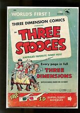 Three Stooges 3-D (1953) #2 VG Stunt Girl by Kubert includes Replacement Glasses