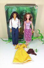 "1999 Disney's TARZAN and JANE Porter ""Vine Swinging"" Doll Giftset Mattel Barbie"