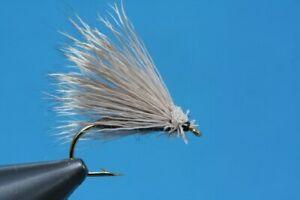 Sedge mit Rehaarkörper Fliegentom Trockenfliege 3 Stück Faltflügel