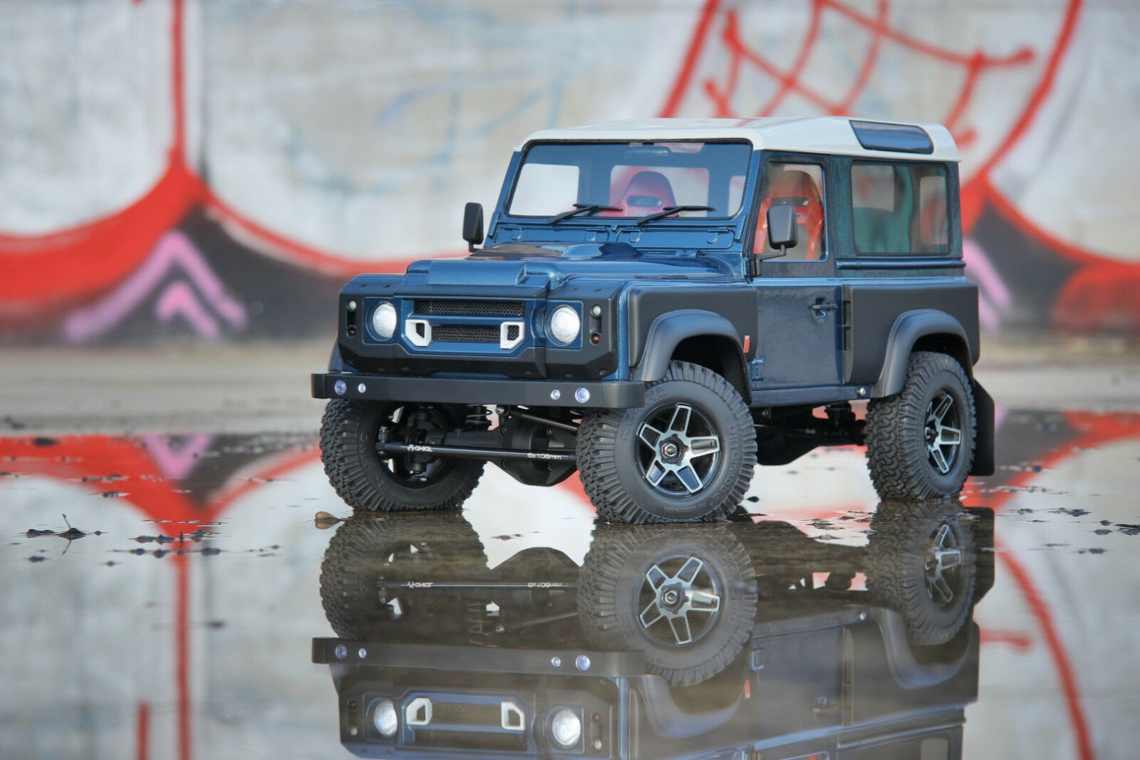 NEW Land Rover Defender D90 Kahn Hardbody for Axial SCX10 RC4WD Gelande MEX