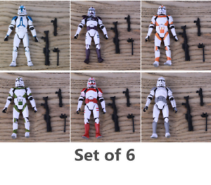 Lot 20 blue Lightsaber For Star Wars Clone Trooper 3.75/'/' Action Figure rare toy