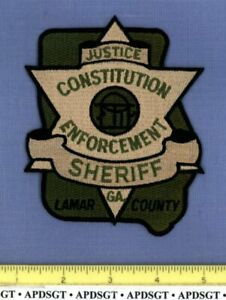 LAMAR COUNTY SHERIFF GEORGIA Police Patch STATE SHAPE ...