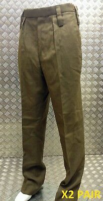 Genuine British Army Barrack Dress All Ranks Trousers / Fad Officer X 2 Pairs