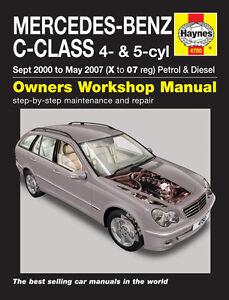 haynes workshop repair manual for mercedes c class petrol diesel rh ebay co uk mercedes benz c180 kompressor repair manual mercedes benz c180 w202 repair manual