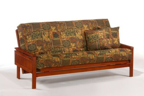 FULL or QUEEN size Futon Frame Solid Wood WINSTON Futon Sofa Bed Frame
