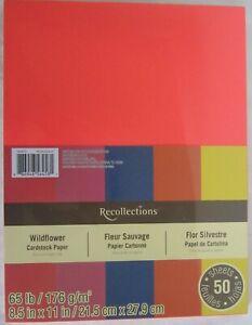 Recollections-Cardstock-Carta-8-1-5-1cm-x-27-9cm-50-Fogli-29-5kg-5-Colore-Campo