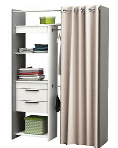 Offener kleiderschrank vorhang  Begehbarer Kleiderschrank Schrank Vorhang weiss Wandschrank ...