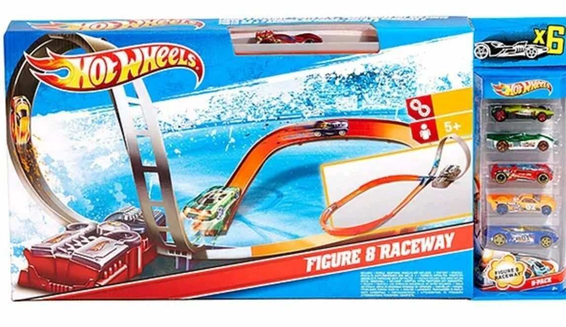 los últimos modelos Hot Wheels-figura 8 motorizados Raceway con 6 Coches Coches Coches  Totalmente Nuevo En Caja   orden en línea