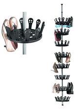 Telescopic Shoe Carousel Rack Storage Shoe Tree Rack Stand Shoes Organizer