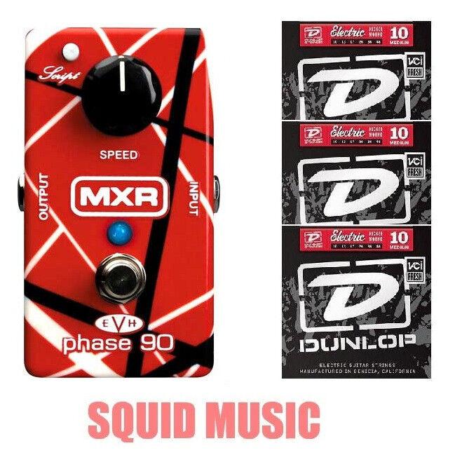 MXR EVH Eddie Van Halen Phase 90 Pedal EVH90 (3 SETS OF DUNOP GUITAR STRINGS)