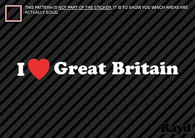 I Love Great Britain Sticker Decal Die-Cut Vinyl 2