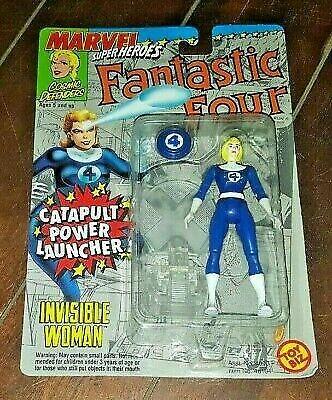 Marvel Super Heroes Fantastic Four Toybiz Invisible Woman Catapult Power NIP