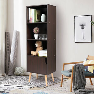 Details About Bookcases With Drawers Bookshelf And Book Shelves 3 Shelf Case 4 Foots Kids Room