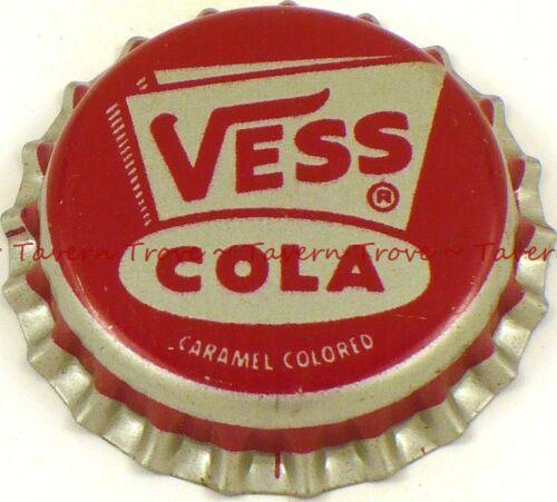 1950s no bottler VESS COLA SODA Cork Crown Tavern Trove