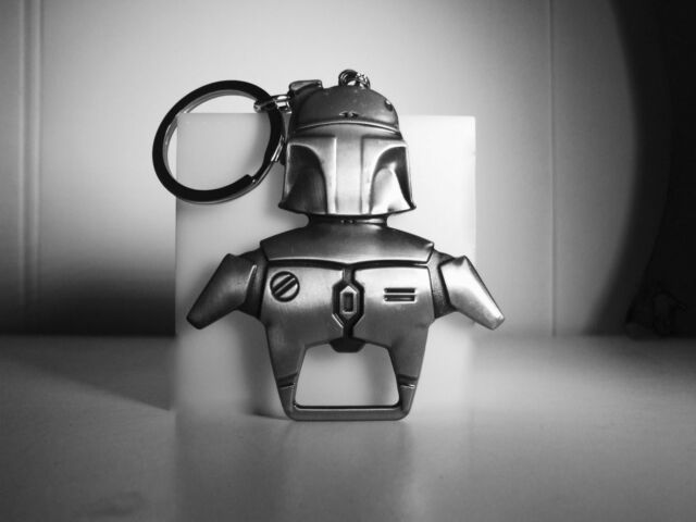 Star Wars Boba Fett Bottle Opener Key Ring Antique Silver