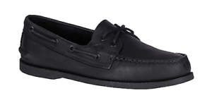 Sperry Top-Sider A/O Authentic Original 2 Eye Black Boat Shoe Men's sizes 7-16
