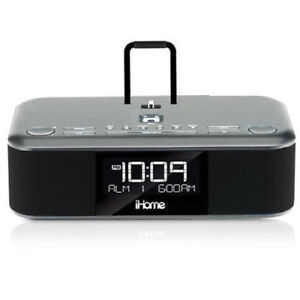 iHome iDL95 Lightning Dock Clock Radio and USB Charge/Play