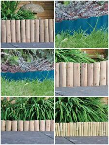 Détails sur Jardin pelouse bordure Bois Plastique Bambou bordure Edge  Clôture Extérieur Patio Allée- afficher le titre d\'origine