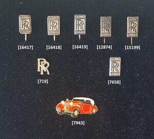ROLLS-ROYCE-Anstecknadeln-Pins-Abzeichen-badges-1950er-bis-1990er-AUSSUCHEN