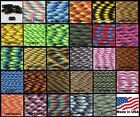550 Paracord Mil Spec Type III 7 strand parachute cord 10ft, 20ft, 50ft, 100 ft