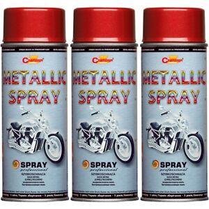 3-Lackspray-Metallic-Lack-Spruehfarbe-Farbe-Rot-Spruehlack-400ml-Spraydose