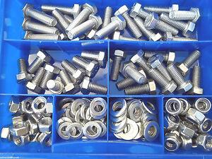 M5 Sechskantschrauben Set 400 Teile Edelstahl A2 DIN 933 versandkostenfrei