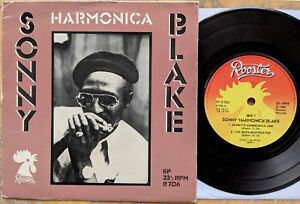 MEMPHIS-BLUES-HARMONICA-picture-sleeve-EP-SONNY-HARMONICA-BLAKE-Rooster-R706
