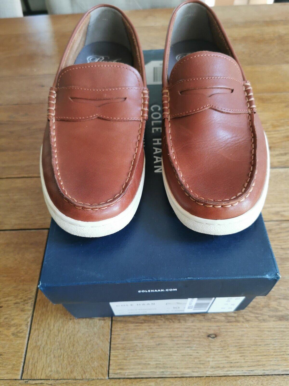 Cole Haan Mens Pinch Weekender Boat Shoes British Tan Brown UK 9 M EU43 US10
