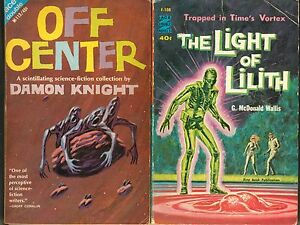 DAMON-KNIGHT-Avon-Double-Novels-Science-Fiction-OFF-CENTER-Light-of-Lilith-MORE