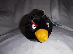 Commonwealth-Black-Angry-Bird-6-034-Plush-Soft-Toy-Stuffed-Animal