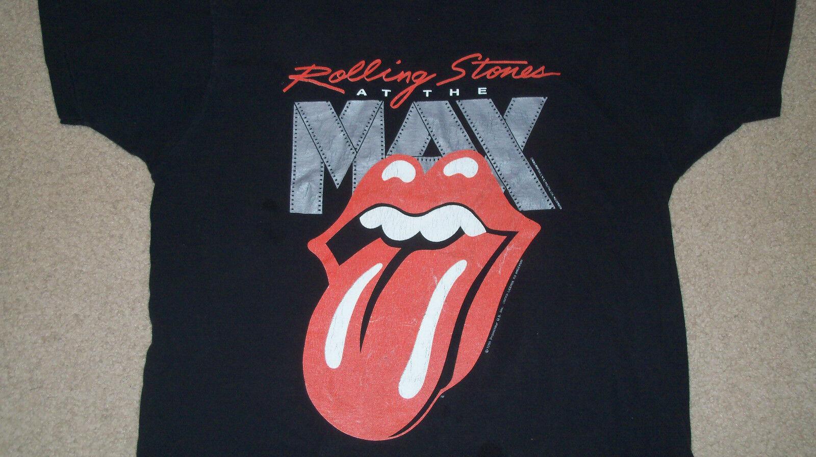 Vintage 1989 ROLLING STONES Live at the MAX T-hemd XL Brockum IMAX Steel Wheels