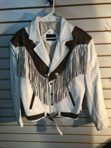 Vintage Men's D'Don Regalon White Leather Lined Fr