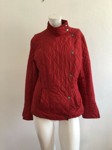 BARBOUR WINTER QUILTED PUFFER JACKET RED SIZE UK 1
