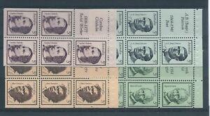 1968-5c-Famous-Australians-set-of-booklet-panes-MUH-ML564