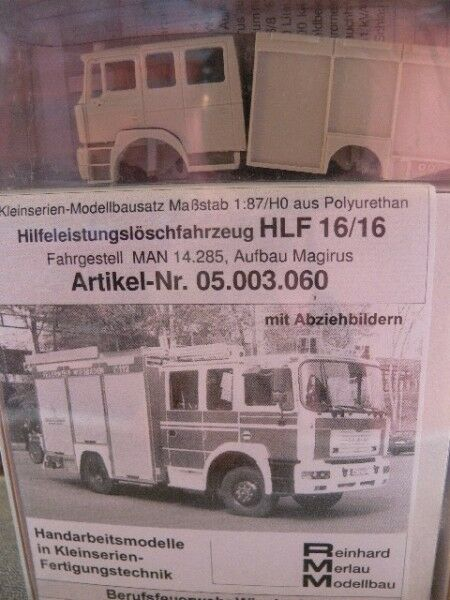 1 87 RMM 05.003.060 MAN 14.285 Magirus HLF 16 16 Bfw Wiesbaden Bausatz  | Reichhaltiges Design