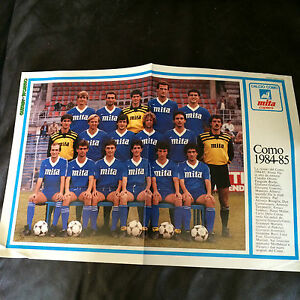 TEAM GROUP PHOTO POSTER  COMO 198485 ISSUED BY GUERIN SPORTIVO - <span itemprop='availableAtOrFrom'> Hertfordshire, United Kingdom</span> - TEAM GROUP PHOTO POSTER  COMO 198485 ISSUED BY GUERIN SPORTIVO -  Hertfordshire, United Kingdom